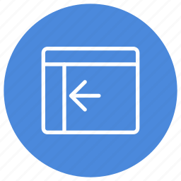 configuration, custom, expand, interface, left, panel, window icon