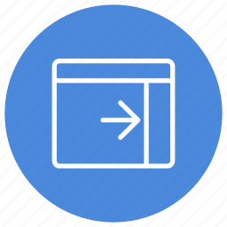 configuration, custom, expand, interface, panel, right, window icon