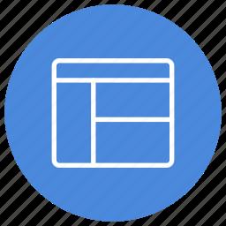 configuration, interface, organization, panes, ui, user, window icon