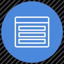 configuration, custom, interface, rows, three, vertical, window icon