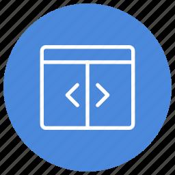 configuration, custom, interface, separator, user, vertical, window icon