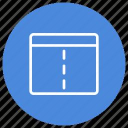 configuration, custom, interface, split, user, vertical, window icon