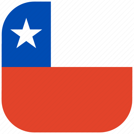 chile, country, flag, national, rounded, square icon