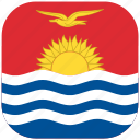 country, flag, kiribati, national, rounded, square icon