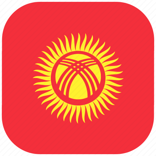 country, flag, kyrgyzstan, national, rounded, square icon