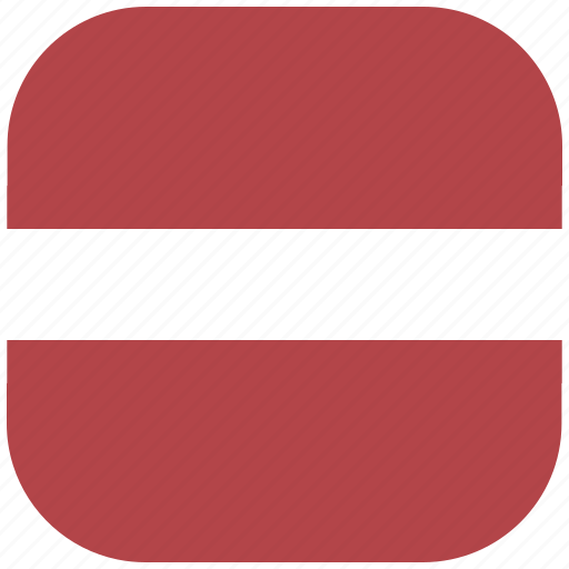 country, flag, latvia, national, rounded, square icon