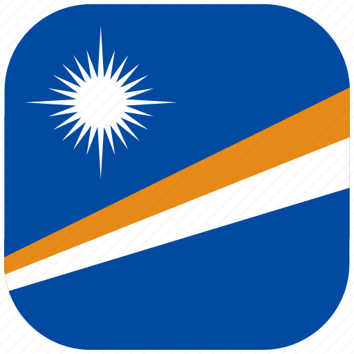 country, flag, islands, marshall, national, rounded, square icon