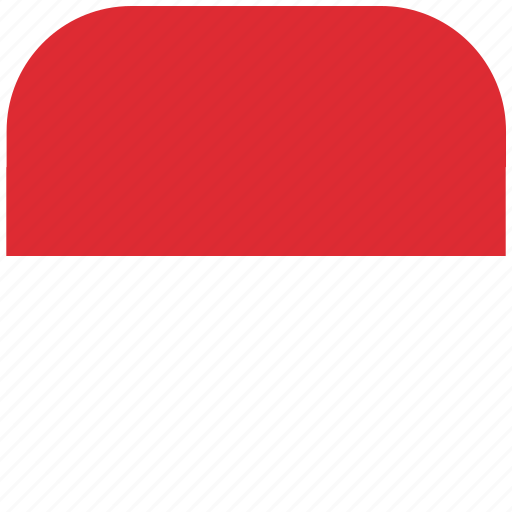 country, flag, monaco, national, rounded, square icon