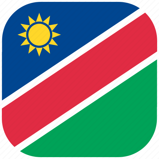 Country, flag, namibia, national, rounded, square icon - Download on Iconfinder