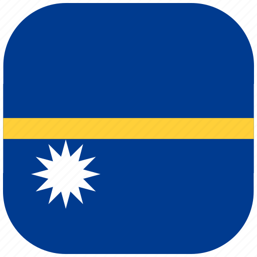 country, flag, national, nauru, rounded, square icon