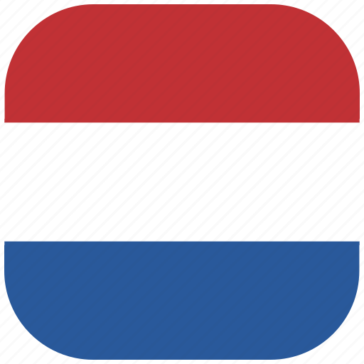country, flag, national, netherlands, rounded, square icon