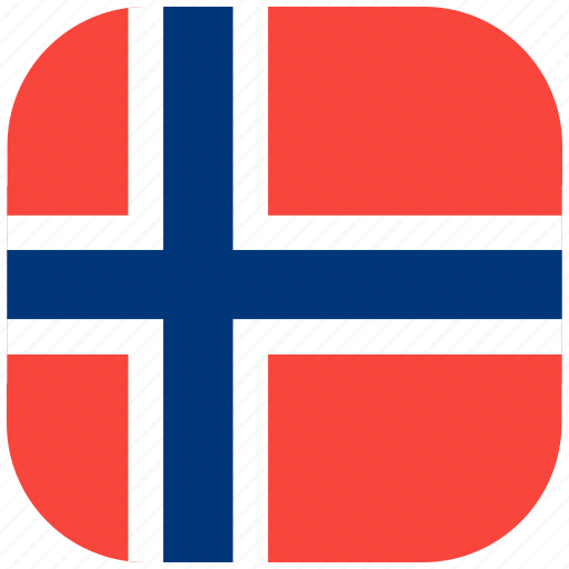 Country, flag, national, norway, rounded, square icon - Download on Iconfinder