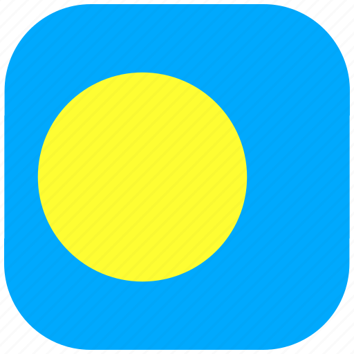 country, flag, national, palau, rounded, square icon