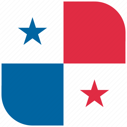 country, flag, national, panama, rounded, square icon