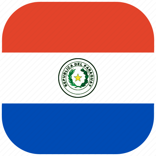 country, flag, national, paraguay, rounded, square icon