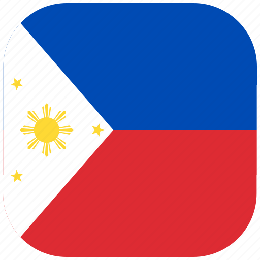 country, flag, national, philippines, rounded, square icon