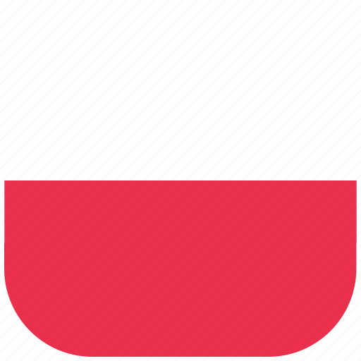 country, flag, national, poland, rounded, square icon