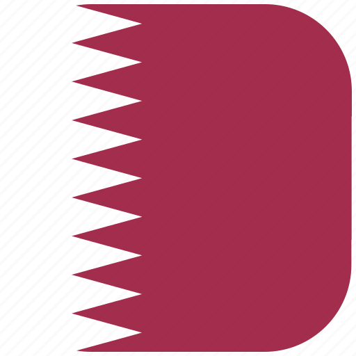 country, flag, national, qatar, rounded, square icon