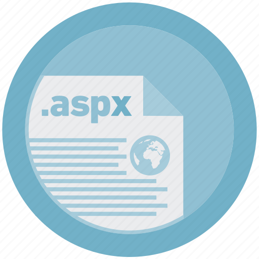 aspx, document, extension, file, format, round, roundettes icon