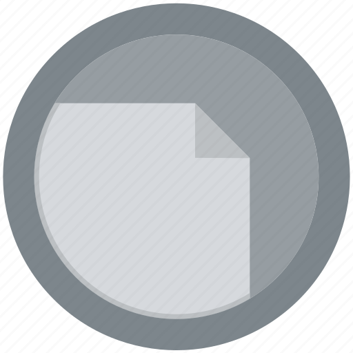 blank, document, extension, file, format, round, roundettes icon
