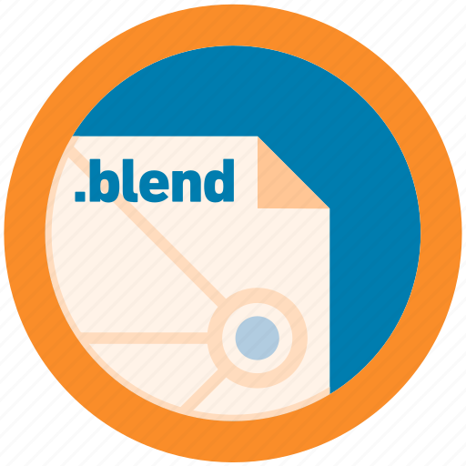 blend, document, extension, file, format, round, roundettes icon