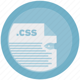 css, document, extension, file, format, round, roundettes icon