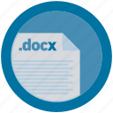 document, docx, extension, file, format, round, roundettes icon