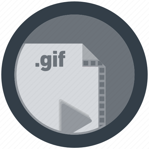 document, extension, file, format, gif, round, roundettes icon