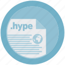 document, extension, file, format, hype, round, roundettes icon
