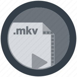 document, extension, file, format, mkv, round, roundettes icon