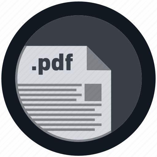 document, extension, file, format, pdf, round, roundettes icon