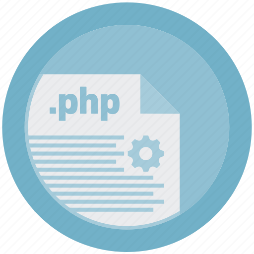 document, extension, file, format, php, round, roundettes icon