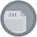 document, extension, file, format, round, roundettes, txt