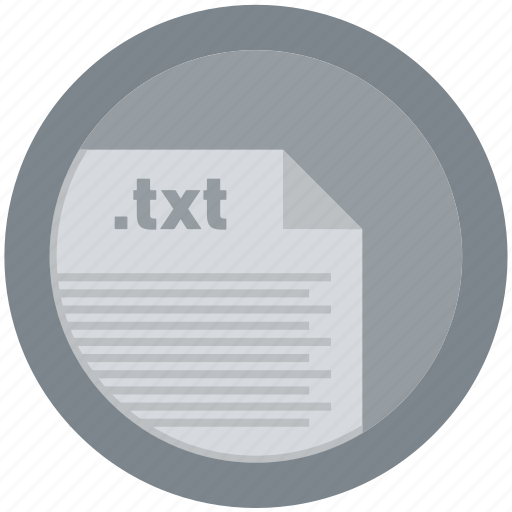 document, extension, file, format, round, roundettes, txt icon