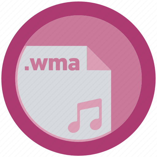 document, extension, file, format, round, roundettes, wma icon