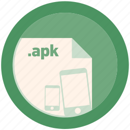apk, document, extension, file, format, round, roundettes icon