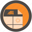 dll, document, extension, file, format, round, roundettes
