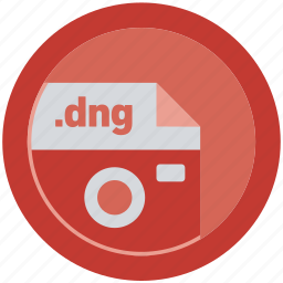 dng, document, extension, file, format, round, roundettes icon