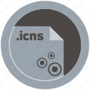 document, extension, file, format, icns, round, roundettes