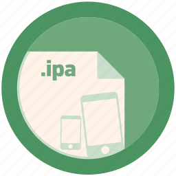 document, extension, file, format, ipa, round, roundettes icon
