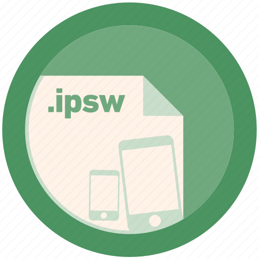 document, extension, file, format, ipsw, round, roundettes icon