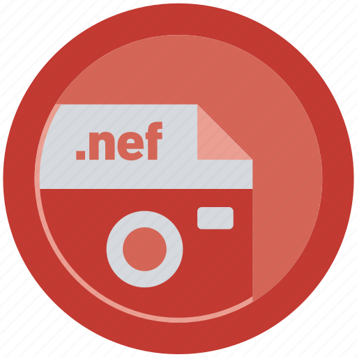document, extension, file, format, nef, round, roundettes icon