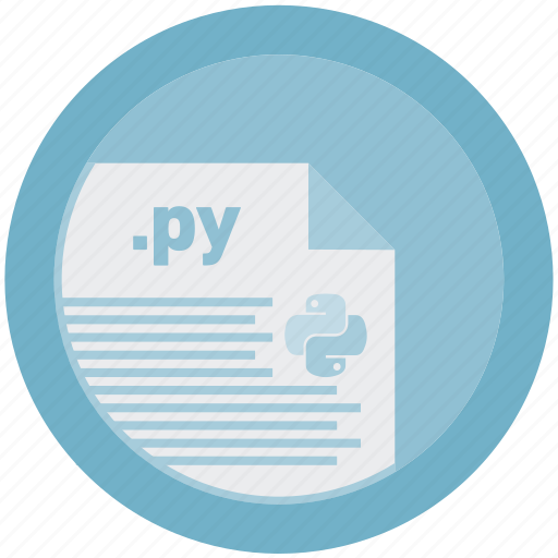 document, extension, file, format, py, round, roundettes icon