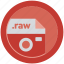 camera, document, extension, file, format, round, roundettes icon