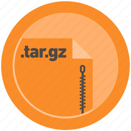 document, extension, file, format, round, roundettes, targz icon