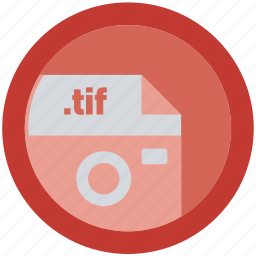 document, extension, file, format, round, roundettes, tif icon