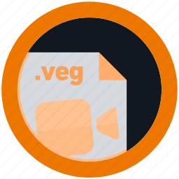 document, extension, file, format, round, roundettes, veg icon