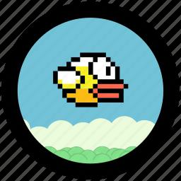 bird, flappy, game icon