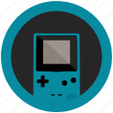 color, console, emulator, game, gameboy, mobile, teal icon