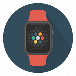 apple, device, smart, time, watch, wrist watch icon